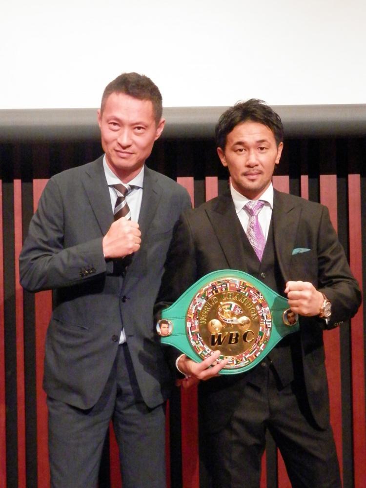 ボクシング元WBC世界バンタム級王者、山中 慎介さんとのツーショット