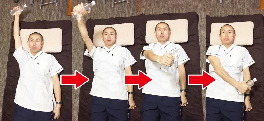 PNF訓練 健康側の左手を動かすことで麻痺のある 右側に体重を乗せやすくする効果が 期待できる